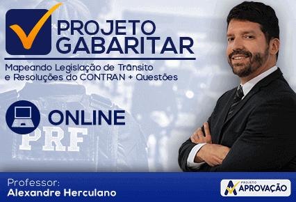 PRF - Projeto Gabaritar Online - Mapeando Legislação de Trânsito e Res.CONTRAN com o professor  Alexandre Herculano