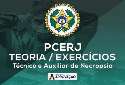 PCERJ - Técnico e Auxiliar de Necropsia -Turma de  Exercícios + Teoria Direto ao Ponto