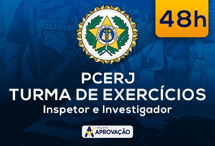 PCERJ - Inspetor e Investigador - Turma de Exercícios  (48h)