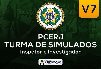 PCERJ- Inspetor e Investigador -  Turma de Simulados  V7